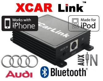 XCarLink adaptér iPod/iPhone a Bluetooth Audi