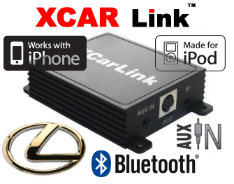Auto adaptér iPod/iPhone a Bluetooth - Lexus