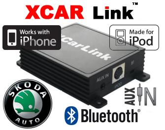 Auto adaptér iPod/iPhone a Bluetooth - Škoda
