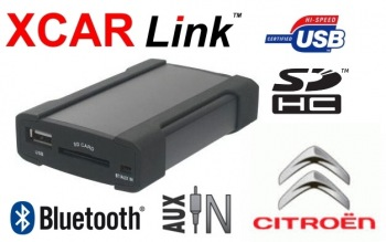 Adaptér USB/SD/Bluetooth handsfree -  Citroen